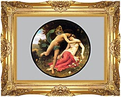William Bouguereau Flora And Zephyr canvas with Majestic Gold frame