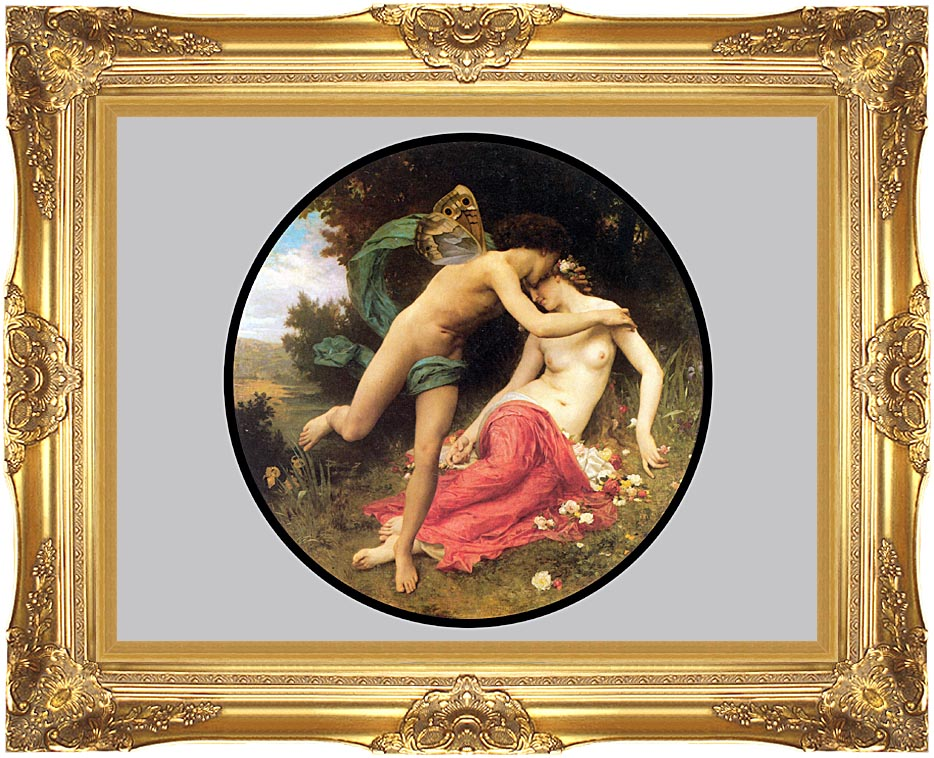 William Bouguereau Flora and Zephyr with Majestic Gold Frame