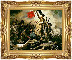 Eugene Delacroix Liberty Leading The People canvas with Majestic Gold frame
