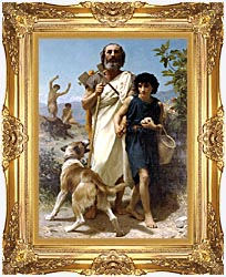 William Bouguereau Homer And His Guide canvas with Majestic Gold frame