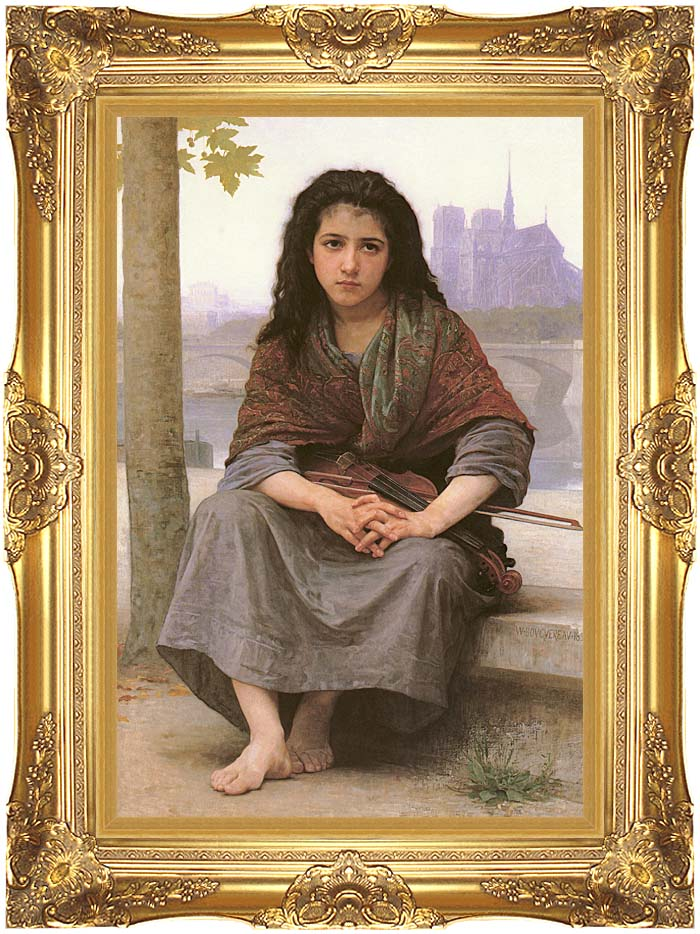 William Bouguereau The Bohemian with Majestic Gold Frame