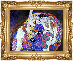 Gustav Klimt The Virgin Detail canvas with Majestic Gold frame