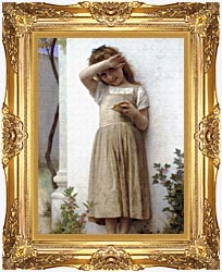 William Bouguereau In Penitence canvas with Majestic Gold frame