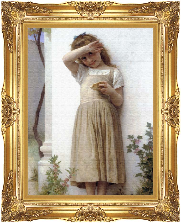 William Bouguereau In Penitence with Majestic Gold Frame