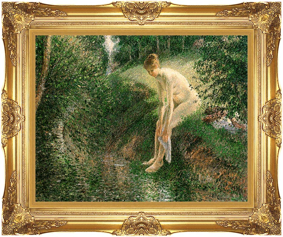 Camille Pissarro Bather in the Woods with Majestic Gold Frame