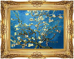Vincent Van Gogh Almond Blossom Detail canvas with Majestic Gold frame