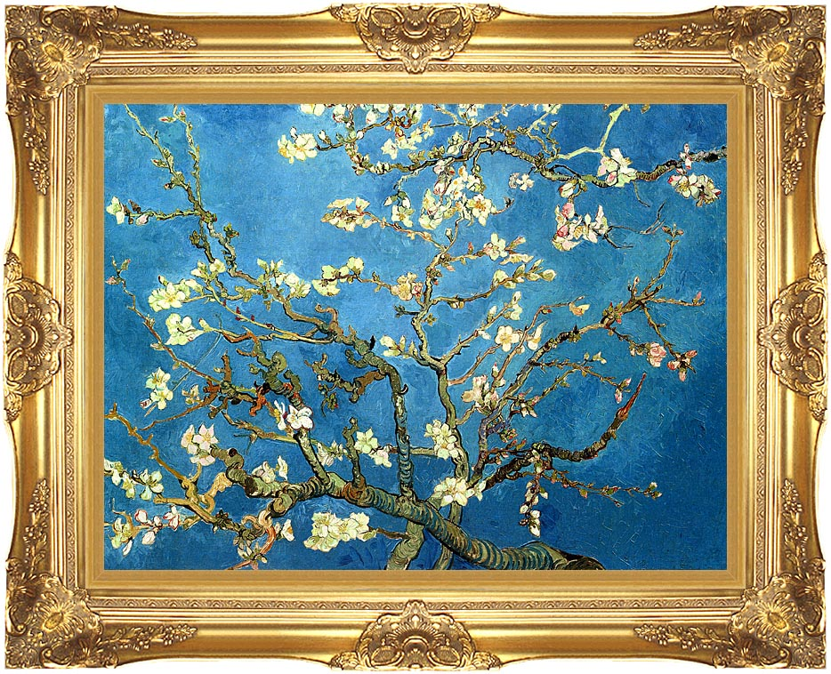 Vincent van Gogh Almond Blossom (detail) with Majestic Gold Frame