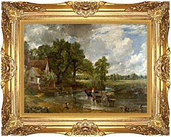 John Constable The Hay Wain canvas with Majestic Gold frame