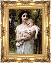 William Bouguereau Little Brother canvas with Majestic Gold frame