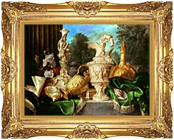 Meiffren Conte Still Life With Precious Vessels canvas with Majestic Gold frame