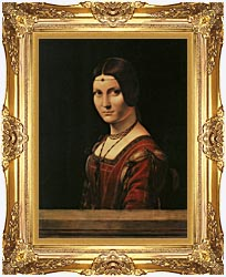 Leonardo Da Vinci Lady In The Court Of Milan canvas with Majestic Gold frame