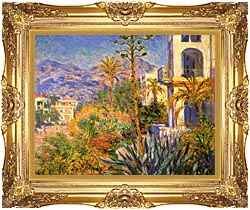 Claude Monet Villas At Bordighera canvas with Majestic Gold frame