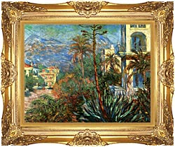 Claude Monet The Villas At Bordighera canvas with Majestic Gold frame