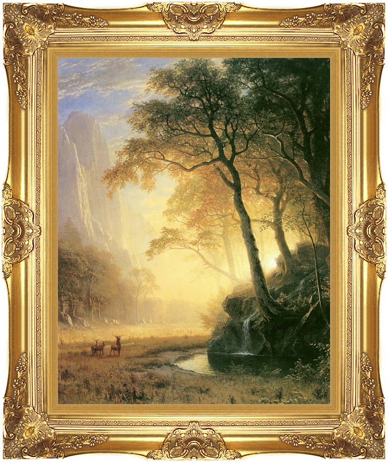 Albert Bierstadt Hetch Hetchy Canyon with Majestic Gold Frame