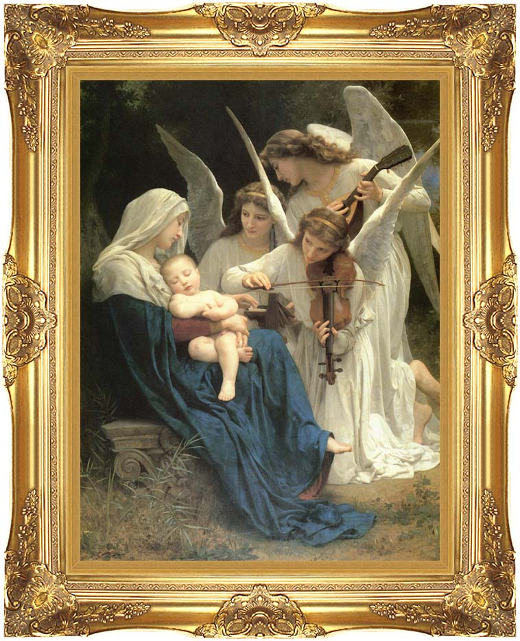William Bouguereau Song of the Angels with Majestic Gold Frame