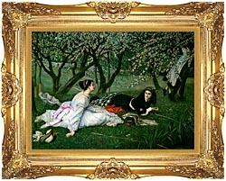 James Tissot Le Printemps canvas with Majestic Gold frame