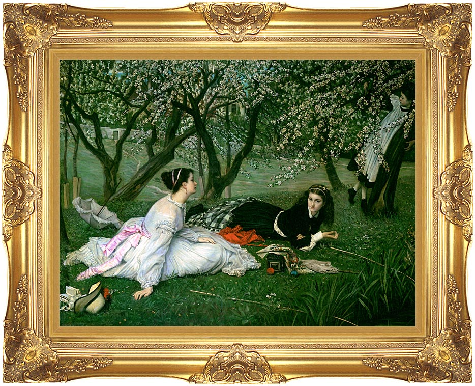 James Tissot Le Printemps with Majestic Gold Frame