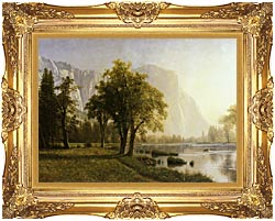 Albert Bierstadt El Capitan Yosemite Valley California canvas with Majestic Gold frame