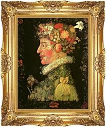 Giuseppe Arcimboldo Spring canvas with Majestic Gold frame
