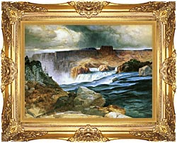 Thomas Moran Shoshone Falls Snake River Idaho canvas with Majestic Gold frame