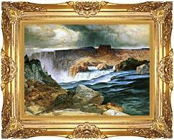 Thomas Moran Shoshone Falls Snake River Idaho canvas with Majestic Gold frame