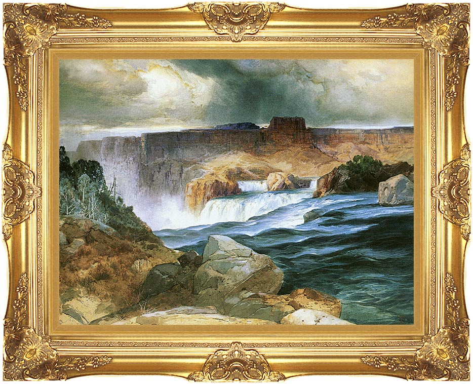 Thomas Moran Shoshone Falls, Snake River, Idaho with Majestic Gold Frame