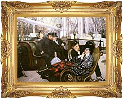 James Tissot The Last Evening canvas with Majestic Gold frame
