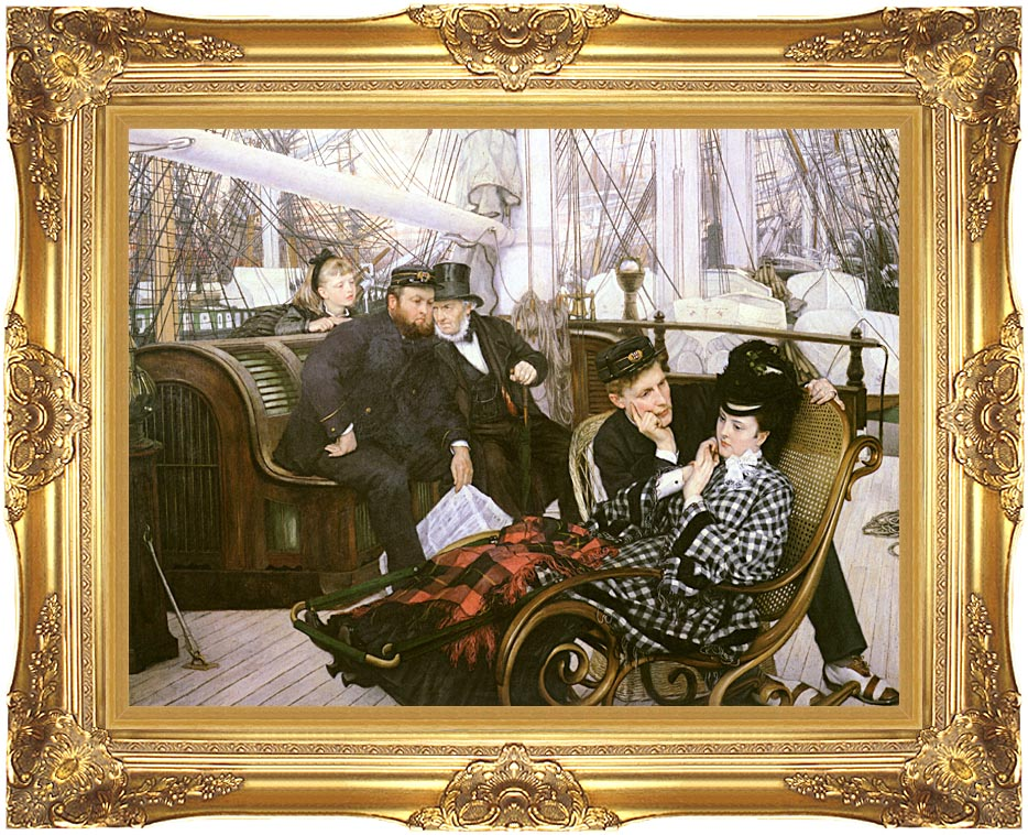 James Tissot The Last Evening with Majestic Gold Frame