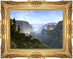 Thomas Hill Yosemite Valley canvas with Majestic Gold frame