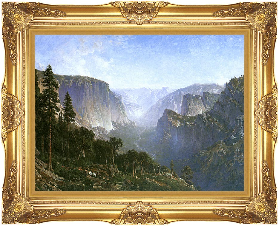 Thomas Hill Yosemite Valley with Majestic Gold Frame