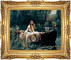 John William Waterhouse The Lady Of Shalott canvas with Majestic Gold frame