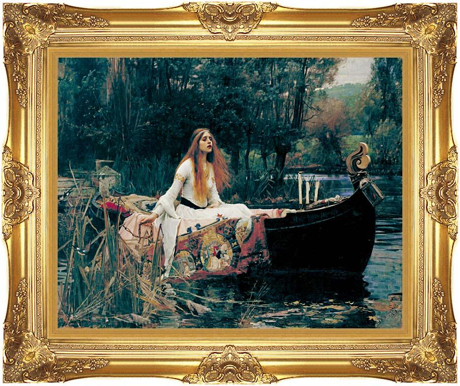 John William Waterhouse The Lady of Shalott with Majestic Gold Frame