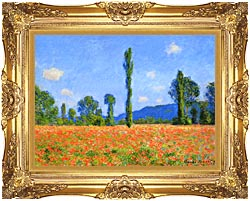 Claude Monet Poppy Field canvas with Majestic Gold frame