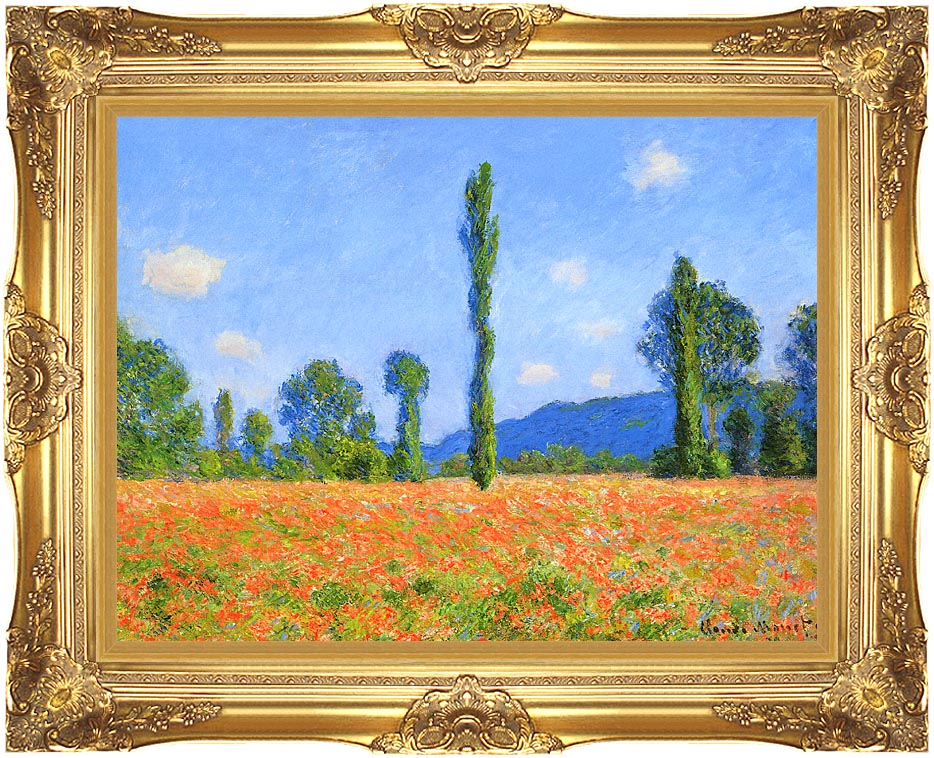 Claude Monet Poppy Field with Majestic Gold Frame
