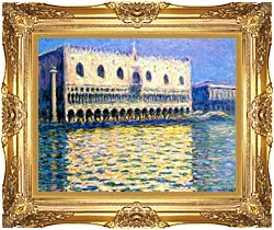 Claude Monet Palazzo Ducale canvas with Majestic Gold frame