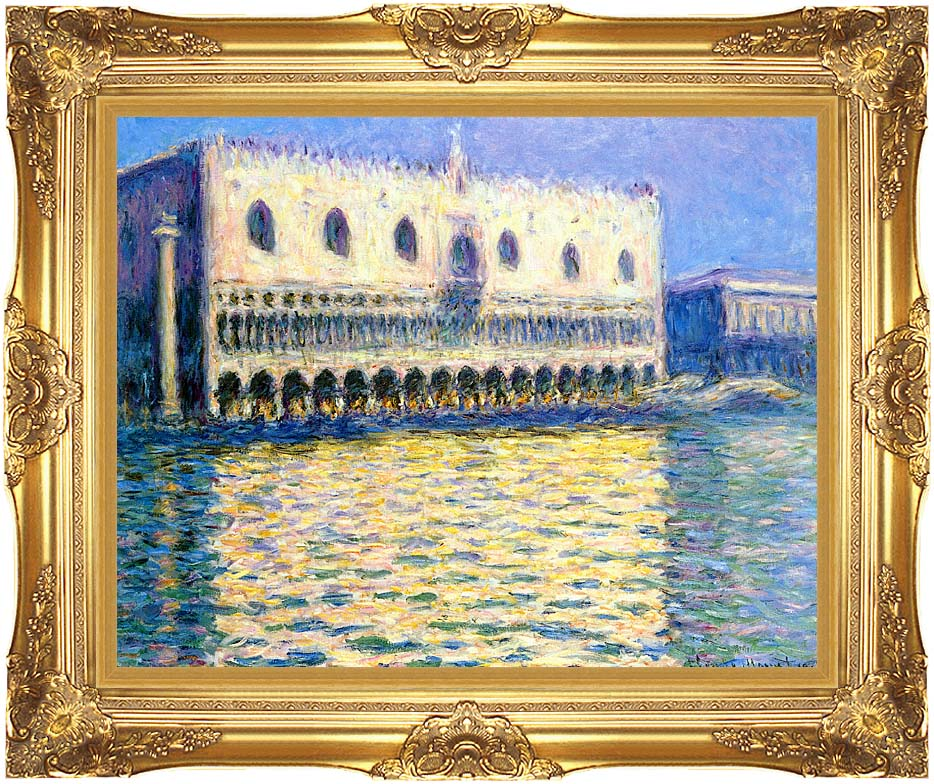 Claude Monet Palazzo Ducale with Majestic Gold Frame