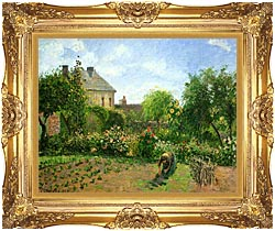 Camille Pissarro The Artists Garden At Eragny 1898 canvas with Majestic Gold frame