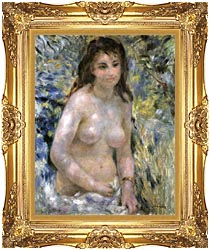 Pierre Auguste Renoir Nude In Sunlight canvas with Majestic Gold frame