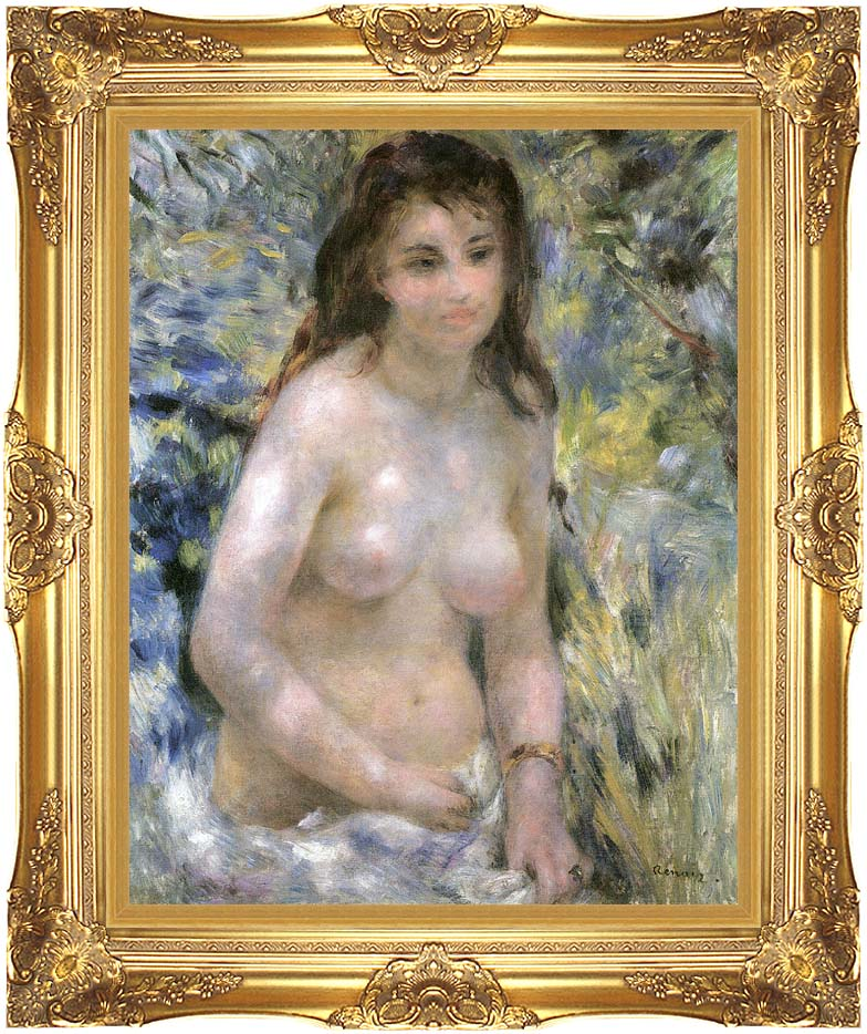 Pierre Auguste Renoir Nude in Sunlight with Majestic Gold Frame