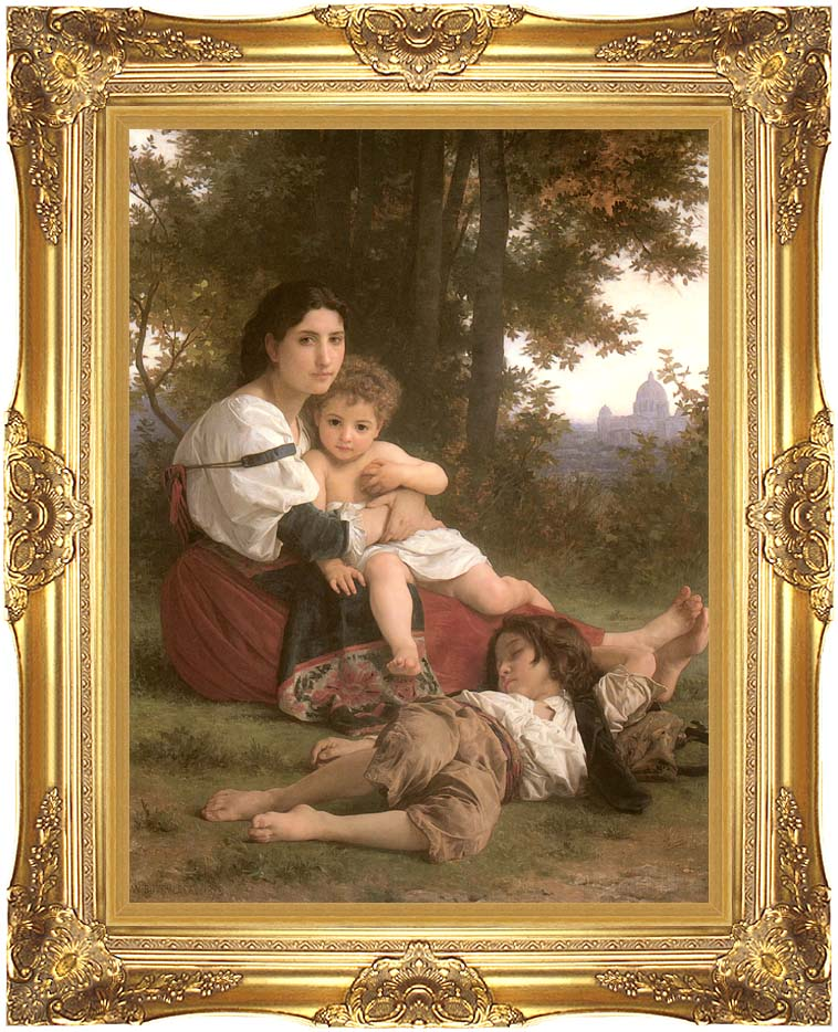 William Bouguereau Rest with Majestic Gold Frame