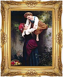 William Bouguereau Little Marauders canvas with Majestic Gold frame