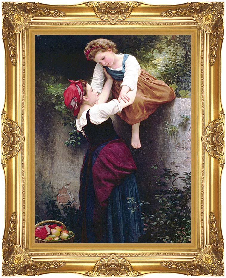 William Bouguereau Little Marauders with Majestic Gold Frame