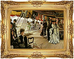 James Tissot The Ball On Shipboard canvas with Majestic Gold frame