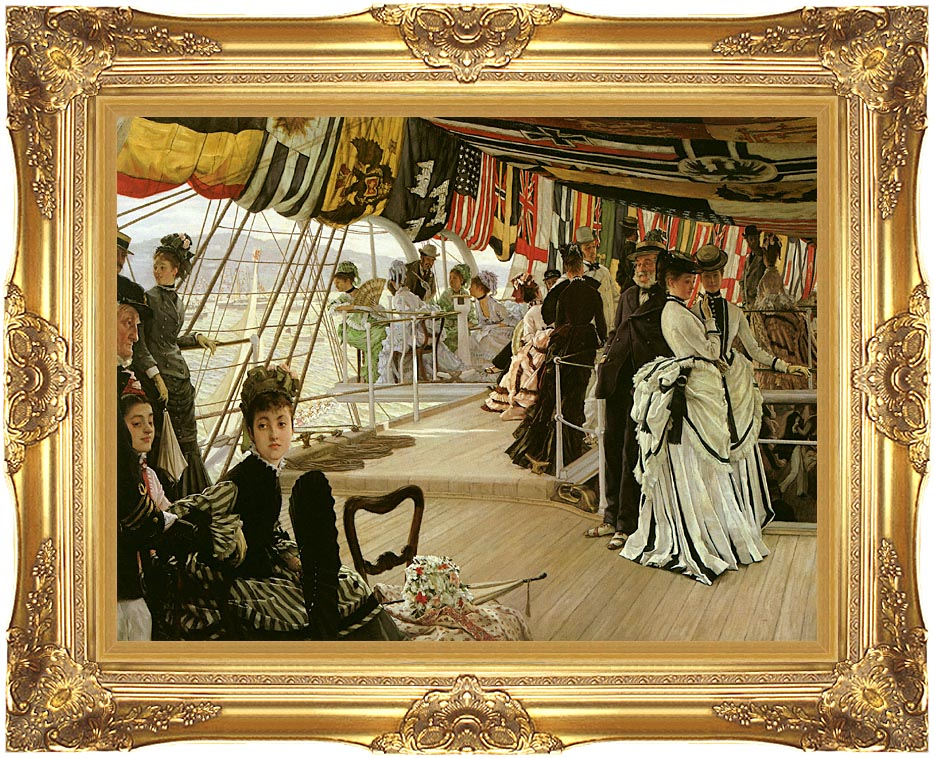 James Tissot The Ball on Shipboard with Majestic Gold Frame