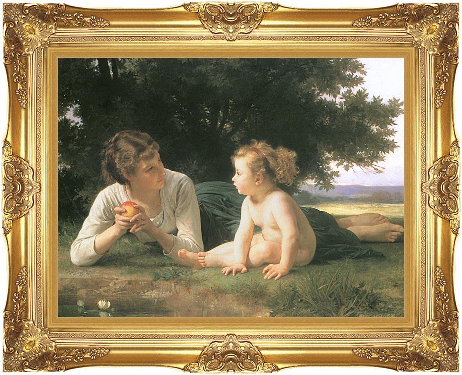 William Bouguereau Temptation with Majestic Gold Frame