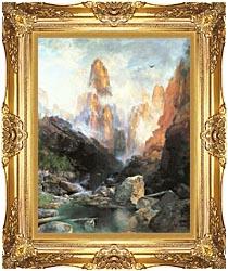 Thomas Moran Mist In Kanab Canyon Utah canvas with Majestic Gold frame