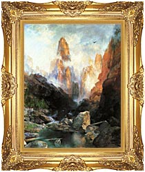 Thomas Moran Mist In Kanab Canyon Utah 1892 canvas with Majestic Gold frame