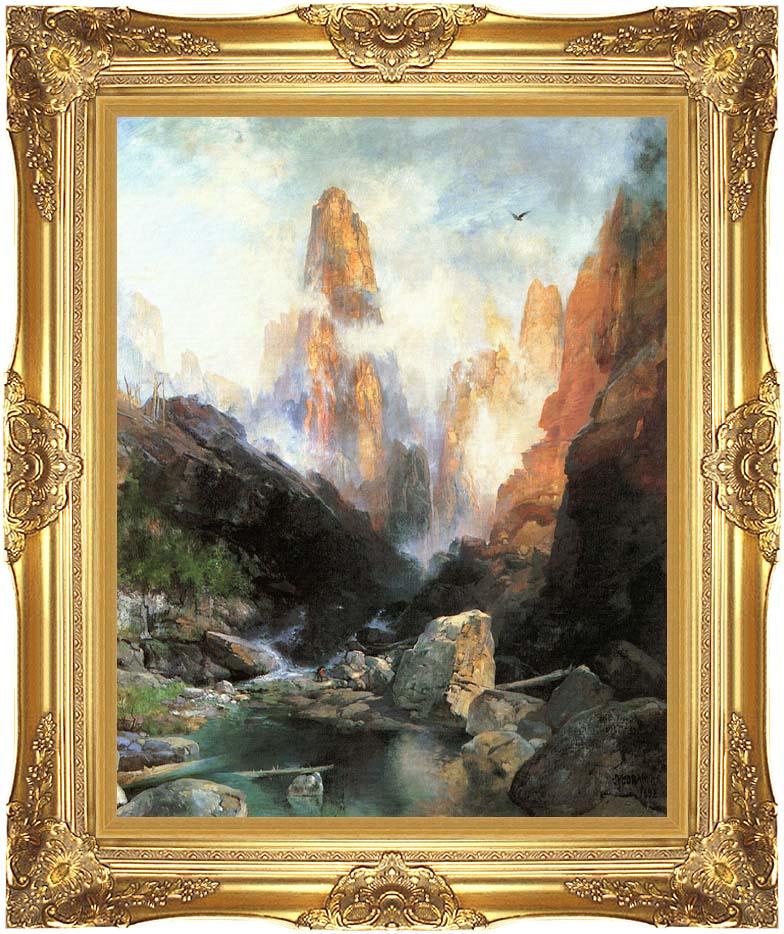 Thomas Moran Mist in Kanab Canyon, Utah 1892 with Majestic Gold Frame