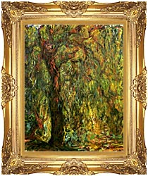 Claude Monet Weeping Willow 1919 Detail canvas with Majestic Gold frame