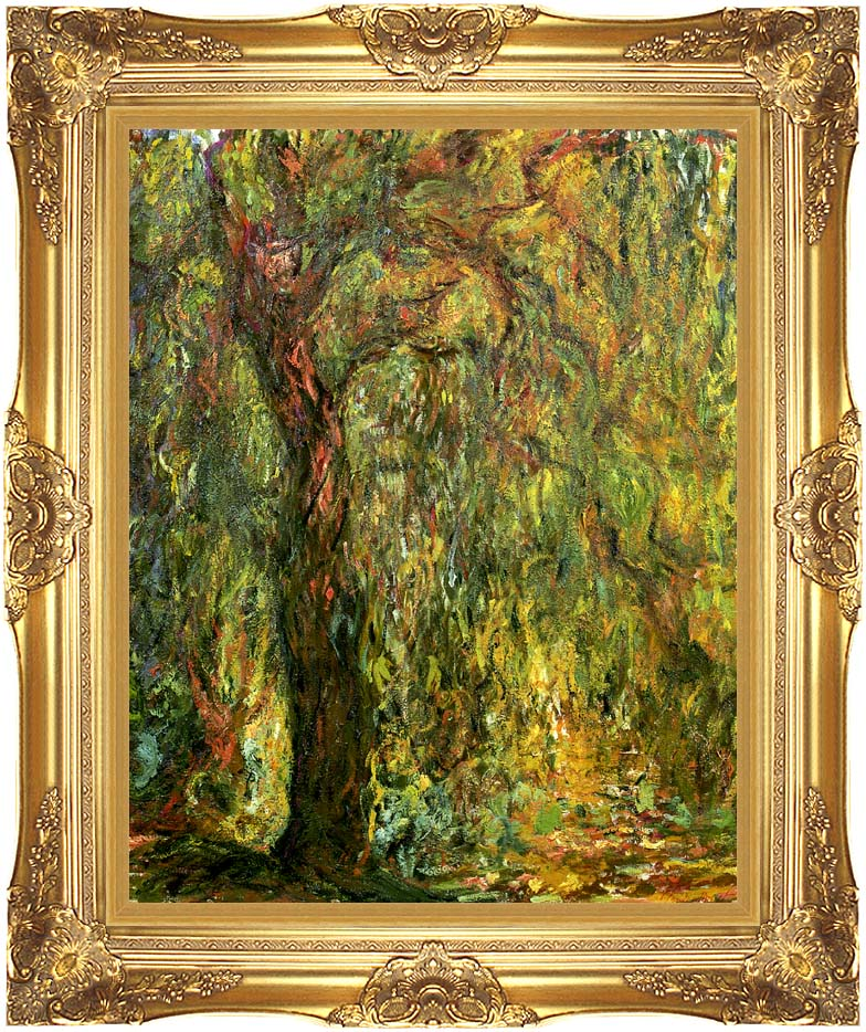 Claude Monet Weeping Willow 1919 (detail) with Majestic Gold Frame